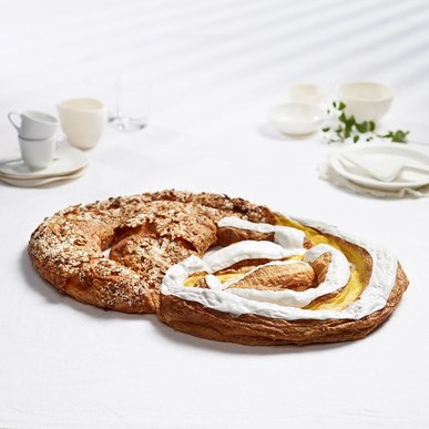 Wienerkringle med eple og makron